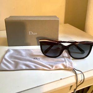 Dior Black Sunglasses with Gold Trim